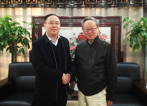 浙江滨江集团董事长周虞康校友来校访问